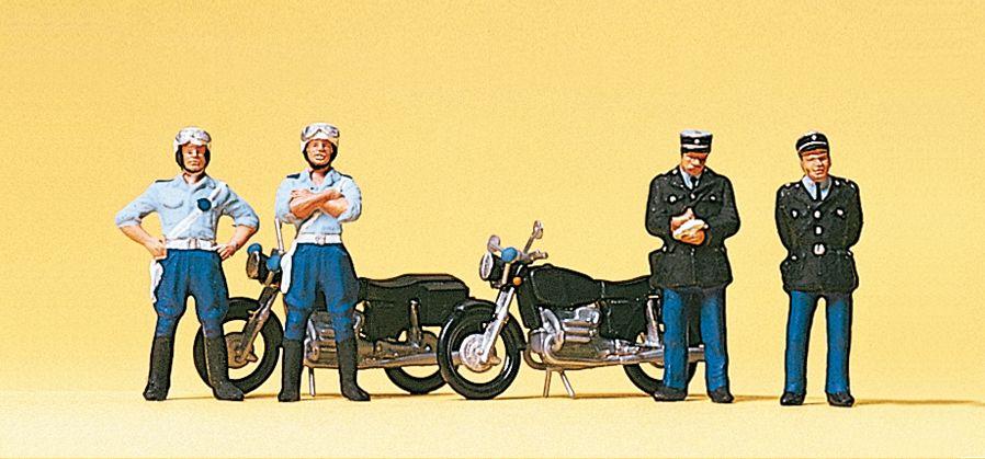 1:87 Polizei, franz. Gendarmerie mit Motorrädern- Preiser 10191  | günstig bestellen bei Modelleisenbahn Center  MCS Vertriebs GmbH