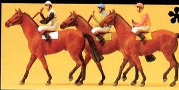 1:87 Jockeys und Pferde - Preiser 10303  | günstig bestellen bei Modelleisenbahn Center  MCS Vertriebs GmbH