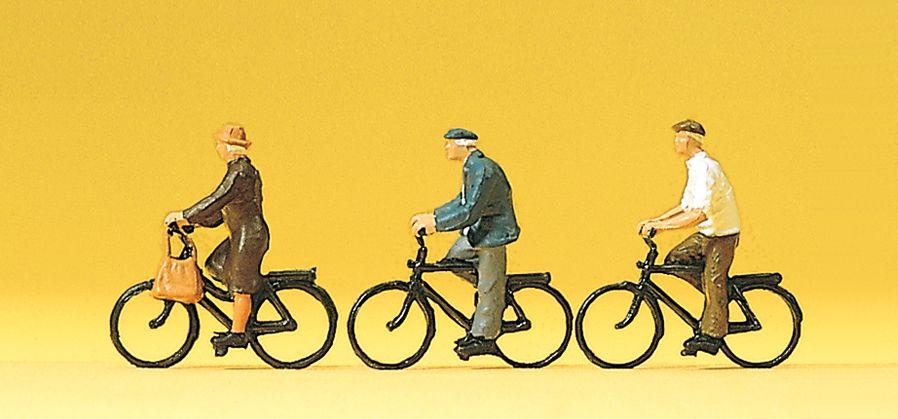 1:87 ältere Radfahrer - Preiser 10333  | günstig bestellen bei Modelleisenbahn Center  MCS Vertriebs GmbH
