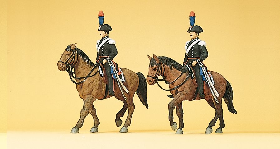 1:87 Polizei, Carabinieri zu Pferd- Preiser 10398  | günstig bestellen bei Modelleisenbahn Center  MCS Vertriebs GmbH