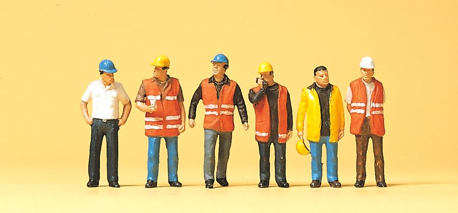 1:87 Arbeiter mit Warnweste - Preiser 10420  | günstig bestellen bei Modelleisenbahn Center  MCS Vertriebs GmbH