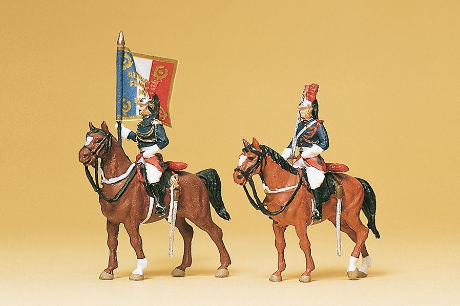 1:87 Frankreich Garde Republicaine zu Pferd- Preiser 10460  | günstig bestellen bei Modelleisenbahn Center  MCS Vertriebs GmbH