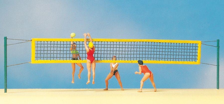 1:87 Beach-Volleyball - Preiser 10528  | günstig bestellen bei Modelleisenbahn Center  MCS Vertriebs GmbH