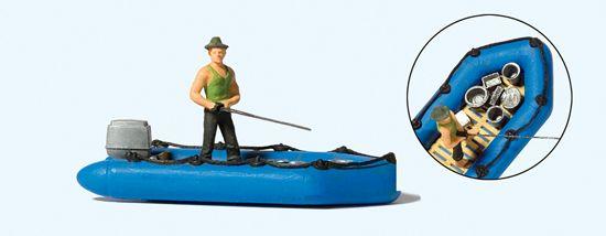 1:87 Angler mit Schlauchboot  | günstig bestellen bei Modelleisenbahn Center  MCS Vertriebs GmbH