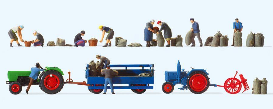 1:87 Superset 8: Kartoffelernte auf dem Lande - Preiser Inhalt: siehe Details | günstig bestellen bei Modelleisenbahn Center  MCS Vertriebs GmbH