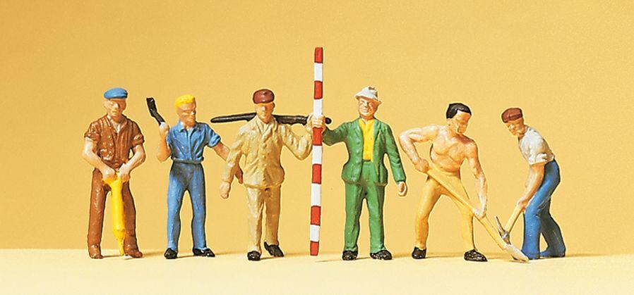 1:87 Arbeiter mit Werkzeug - Preiser 14030  | günstig bestellen bei Modelleisenbahn Center  MCS Vertriebs GmbH