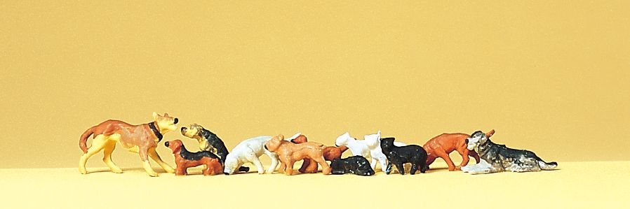 1:87 Hunde und Katzen - Preiser 14165  | günstig bestellen bei Modelleisenbahn Center  MCS Vertriebs GmbH