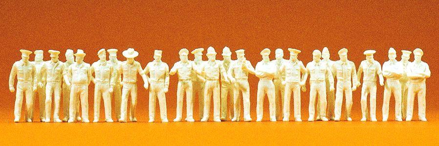 1:87 Uniformierte in sommerl. Kleidung, unbemalt, 24 St.- Preiser 16345  | günstig bestellen bei Modelleisenbahn Center  MCS Vertriebs GmbH