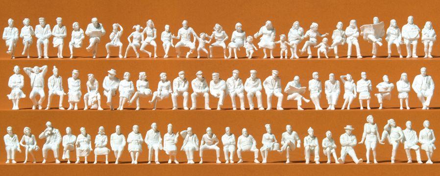 1:87 Sitzende Personen unbemalt  | günstig bestellen bei Modelleisenbahn Center  MCS Vertriebs GmbH