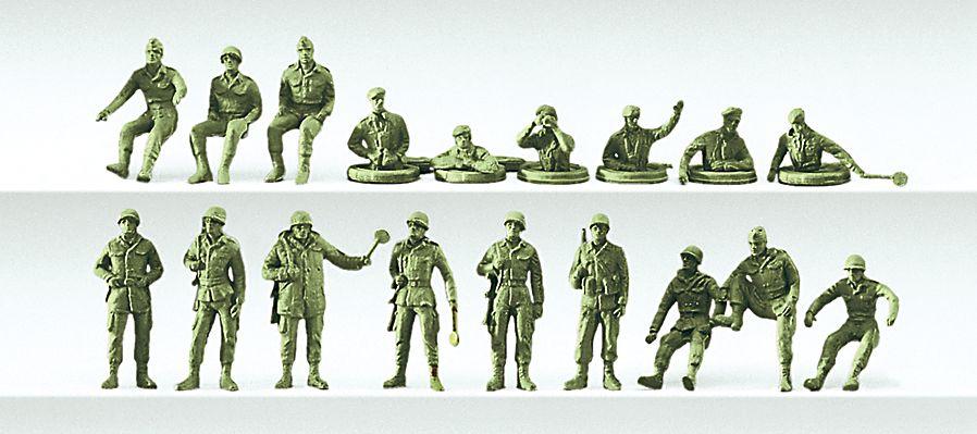 1:87 BW Panzersoldaten und Kraftfahrer, unbemalt, 18 St.- Preiser 16510  | günstig bestellen bei Modelleisenbahn Center  MCS Vertriebs GmbH