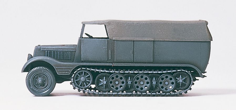 1:87 EDW Halbketten-Zugmaschine 3t SdKfz 11- Preiser 16538 Art.Nr.663-16538
