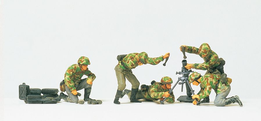 1:87 EDW Granatwerfer im Gefecht, Granatwerfer + 5 Figuren, unbemalt, Bausatz - Preiser 16541  | günstig bestellen bei Modelleisenbahn Center  MCS Vertriebs GmbH