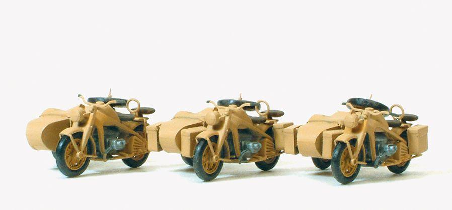 1:87 EDW Motorrad Zündapp KS 750, Bausatz- Preiser 16563 Art.Nr.663-16563
