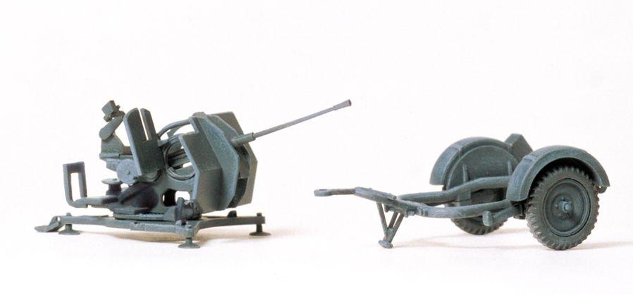 1:87 EDW 2 cm Flak 38 mit Sd-Anhänger 51, Bausatz- Preiser 16565  | günstig bestellen bei Modelleisenbahn Center  MCS Vertriebs GmbH