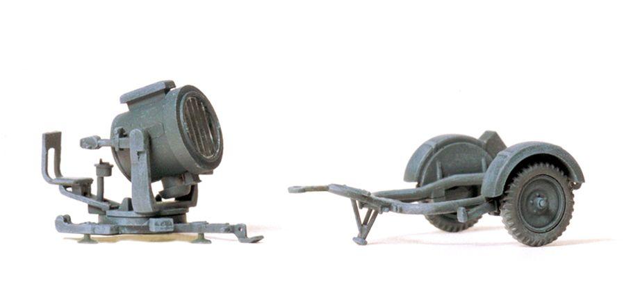 1:87 EDW 60cm Flakscheinwerfer mit SdAnh 51, Bausatz- Preiser 16566  | günstig bestellen bei Modelleisenbahn Center  MCS Vertriebs GmbH