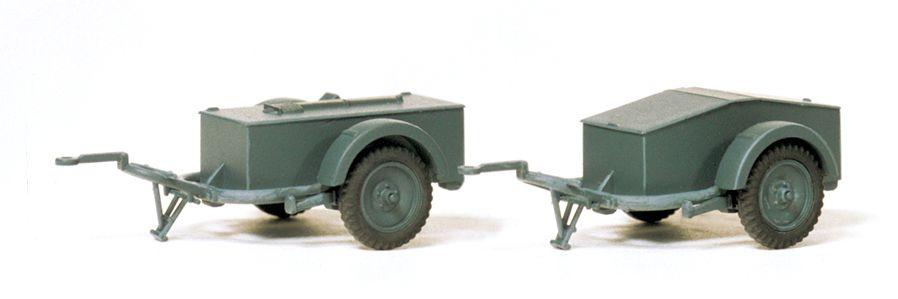 1:87 EDW SdAnh 51 mit Munitionskiste, Bausatz- Preiser 16574 Art.Nr.663-16574