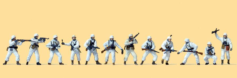 1:87 EDW kämpende Infanterie in Winteruniform, 1941-45, unbemalt, 12 St.- Preiser 16604    günstig bestellen bei Modelleisenbahn Center  MCS Vertriebs GmbH