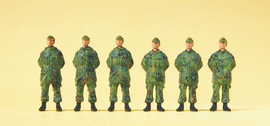 1:87 BW Soldaten stehend - Preiser 16842  | günstig bestellen bei Modelleisenbahn Center  MCS Vertriebs GmbH