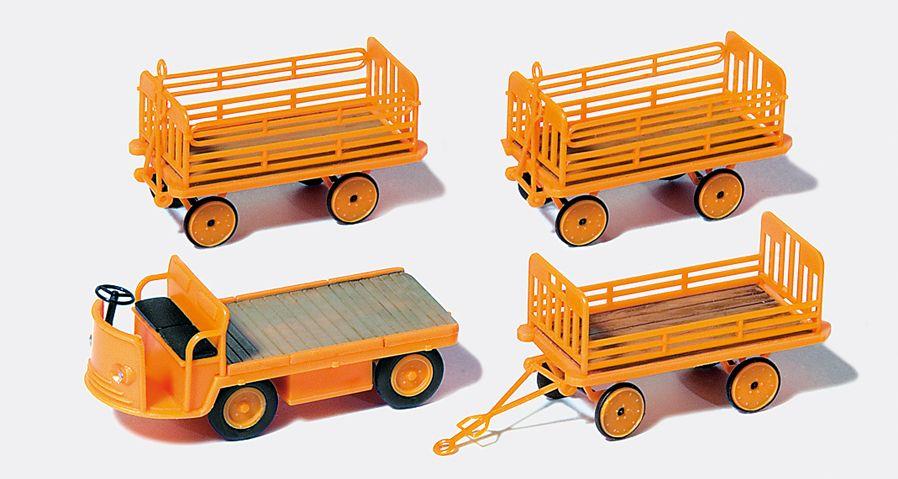 1:87 Elektrokarren mit Anhänger, Bausatz- Preiser  | günstig bestellen bei Modelleisenbahn Center  MCS Vertriebs GmbH