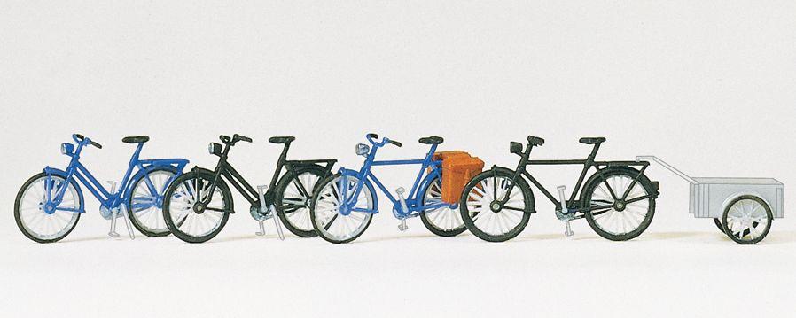 1:87 Fahrräder und Fahrrad- Anhänger, Bausatz- Preiser 17161  | günstig bestellen bei Modelleisenbahn Center  MCS Vertriebs GmbH