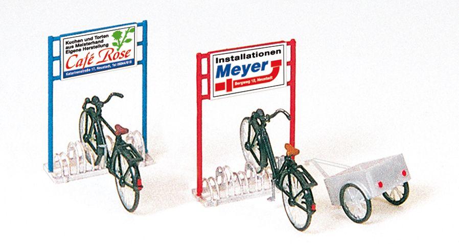 1:87 Fahrradständer +Fahrräder Bausatz- Preiser 17163  | günstig bestellen bei Modelleisenbahn Center  MCS Vertriebs GmbH
