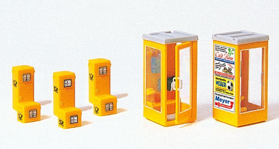 1:87 Briefkästen, Telefonzelle - Preiser 17213  | günstig bestellen bei Modelleisenbahn Center  MCS Vertriebs GmbH