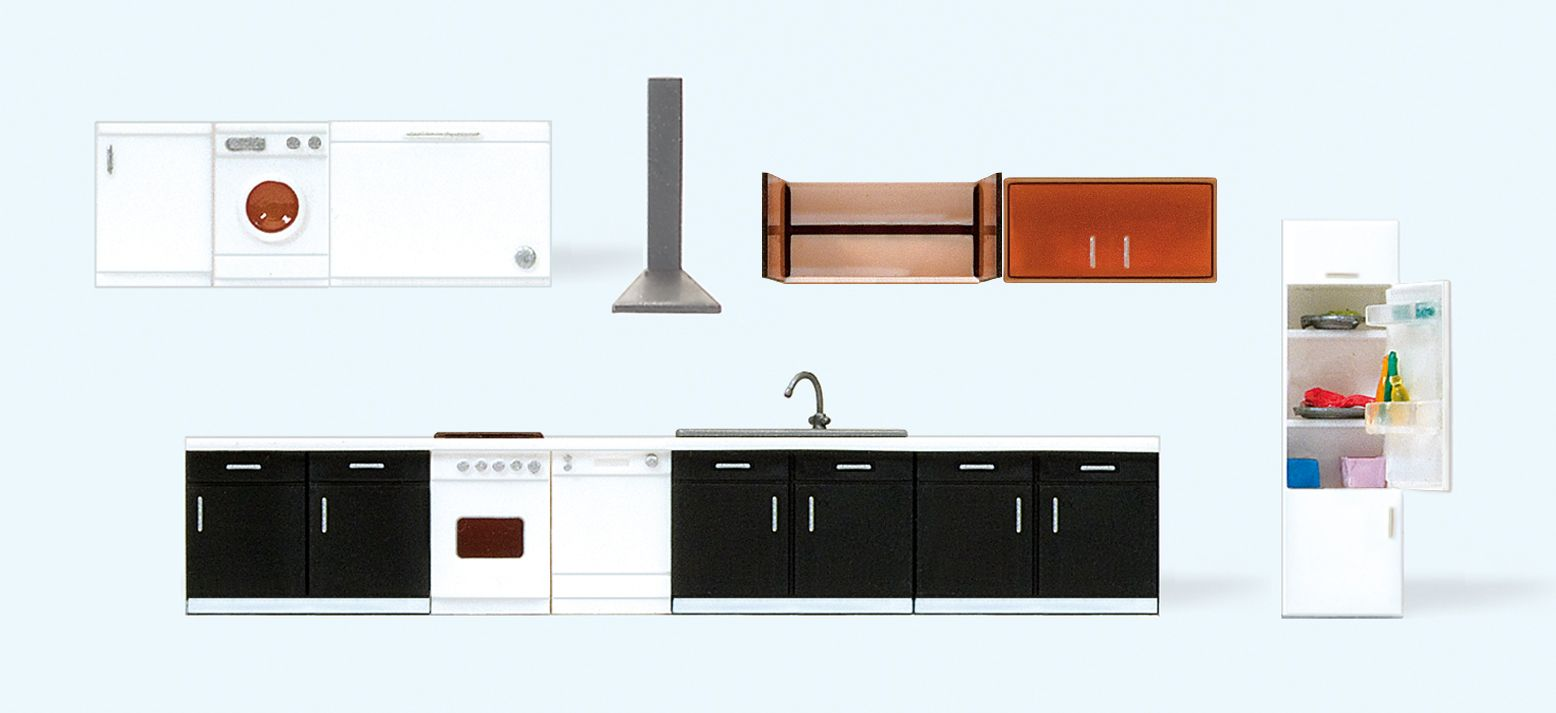 1:87 Inneneinrichtung Küche, Fertigmodelle - Preiser 17707    günstig bestellen bei Modelleisenbahn Center  MCS Vertriebs GmbH