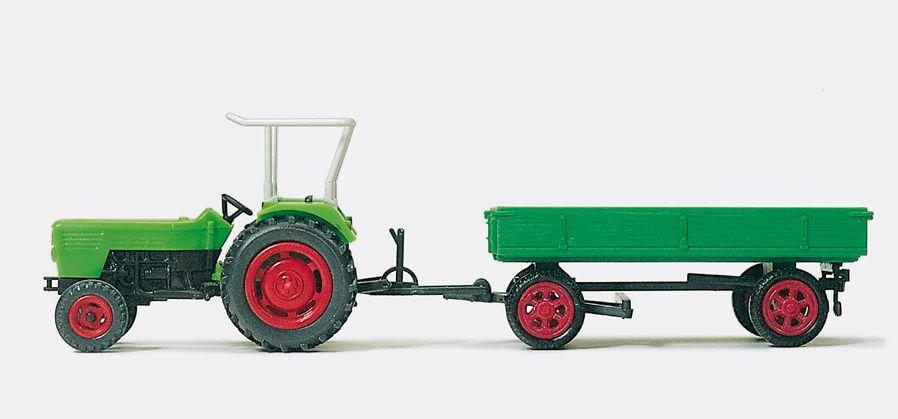 1:87 Deutz Ackerschlepper D 6206 mit Anhänger, Fertigmodell - Preiser 17914  | günstig bestellen bei Modelleisenbahn Center  MCS Vertriebs GmbH