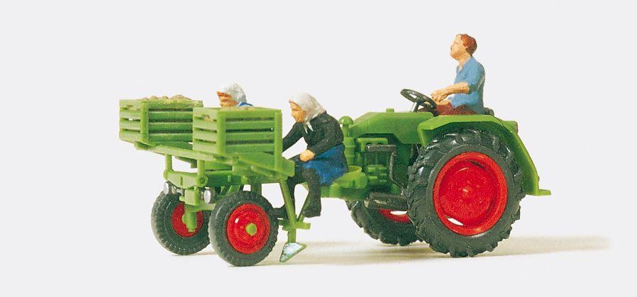 1:87 Geräteträger mit Kartoffellegemaschine, Fertigmodell - Preiser 17935  | günstig bestellen bei Modelleisenbahn Center  MCS Vertriebs GmbH