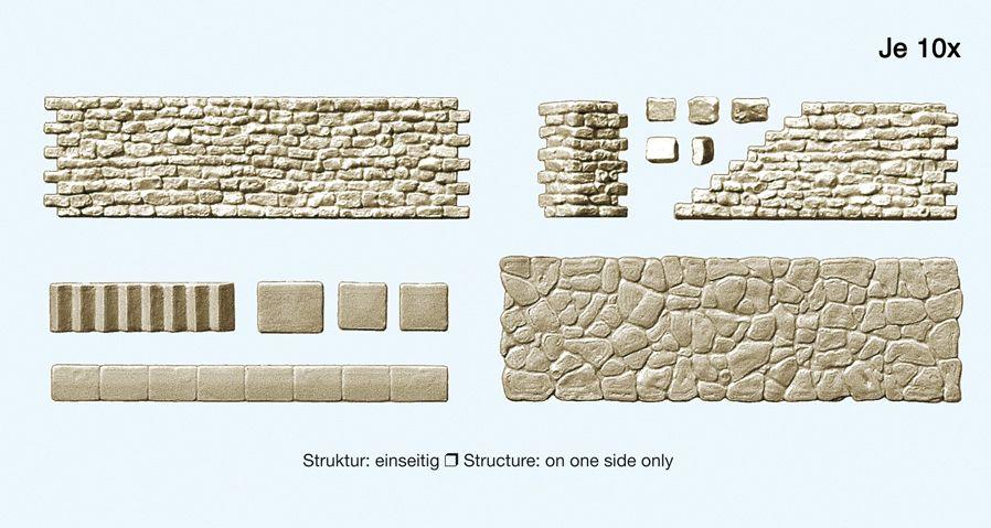 1:87 Bruchsteinmauern, Set 2  | günstig bestellen bei Modelleisenbahn Center  MCS Vertriebs GmbH