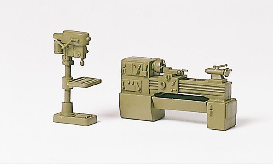 1:87 Drehmaschine und Bohrmaschine, Bausatz- Preiser 18355  | günstig bestellen bei Modelleisenbahn Center  MCS Vertriebs GmbH