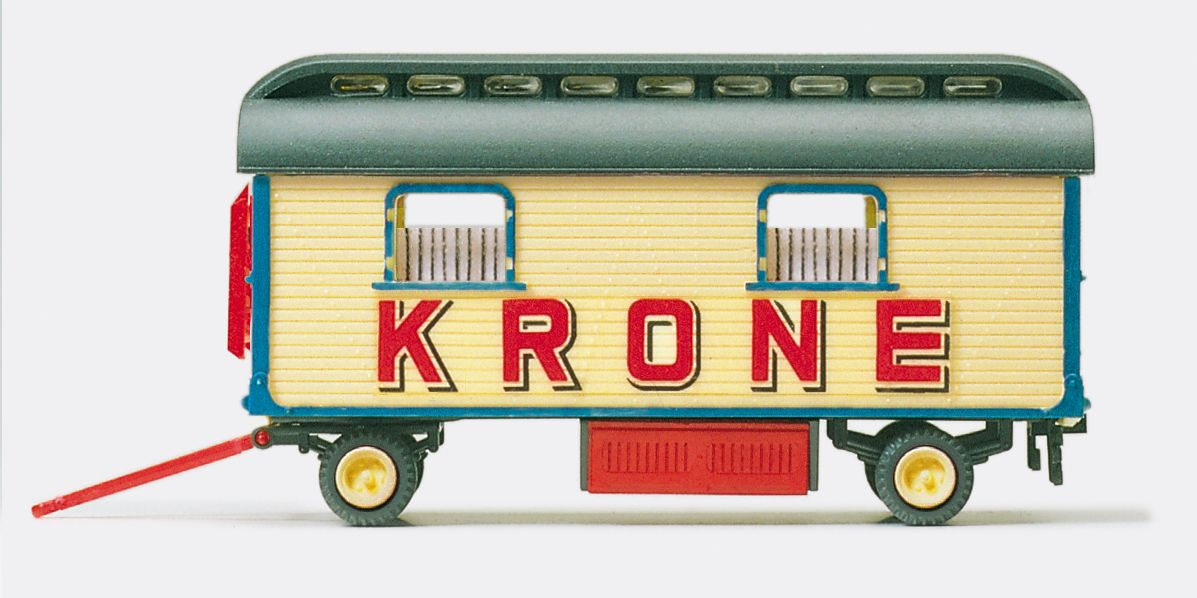1:87 Zirkus Krone Wohnwagen Fertigmodell, Neuauflage- Preiser 21015  | günstig bestellen bei Modelleisenbahn Center  MCS Vertriebs GmbH
