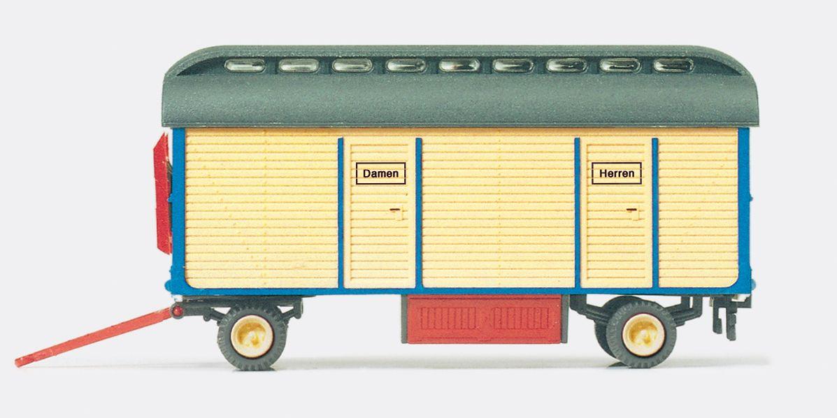 1:87 Zirkus Krone Toiletten wagen, Fertigmodell- Preiser 21025  | günstig bestellen bei Modelleisenbahn Center  MCS Vertriebs GmbH