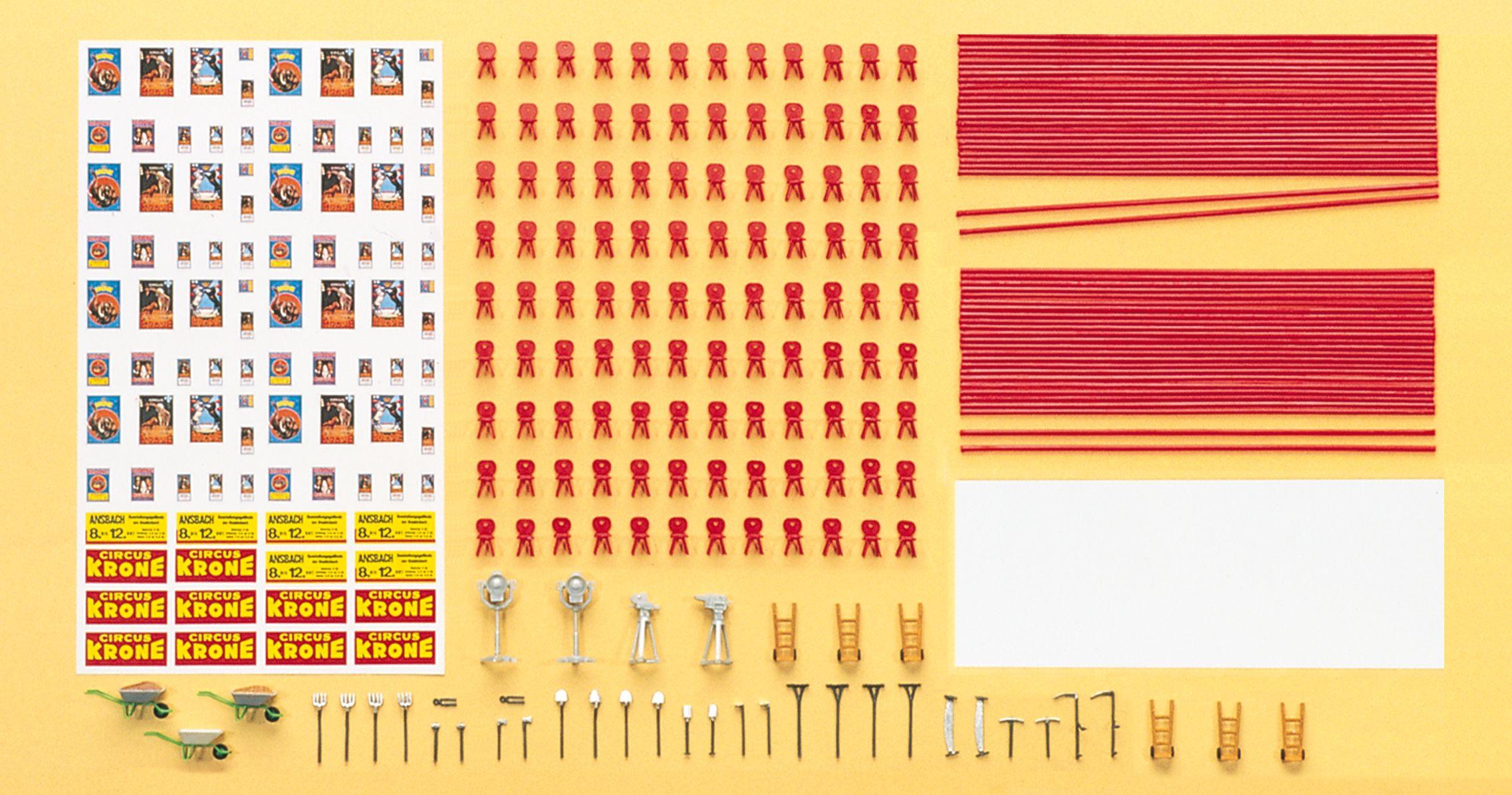 1:87 Zirkus Krone Zurüstsatz Zelt, Bausatz- Preiser 21048