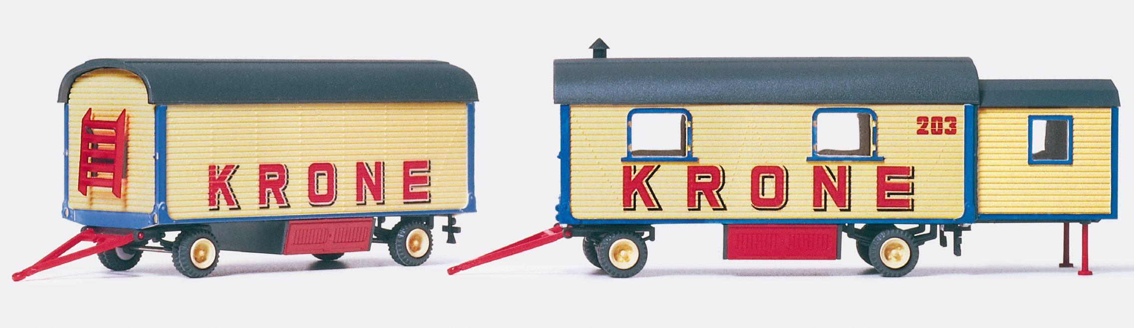 1:87 Zirkus Krone Wohn- und Packwagen, Bausatz- Preiser 21051  | günstig bestellen bei Modelleisenbahn Center  MCS Vertriebs GmbH