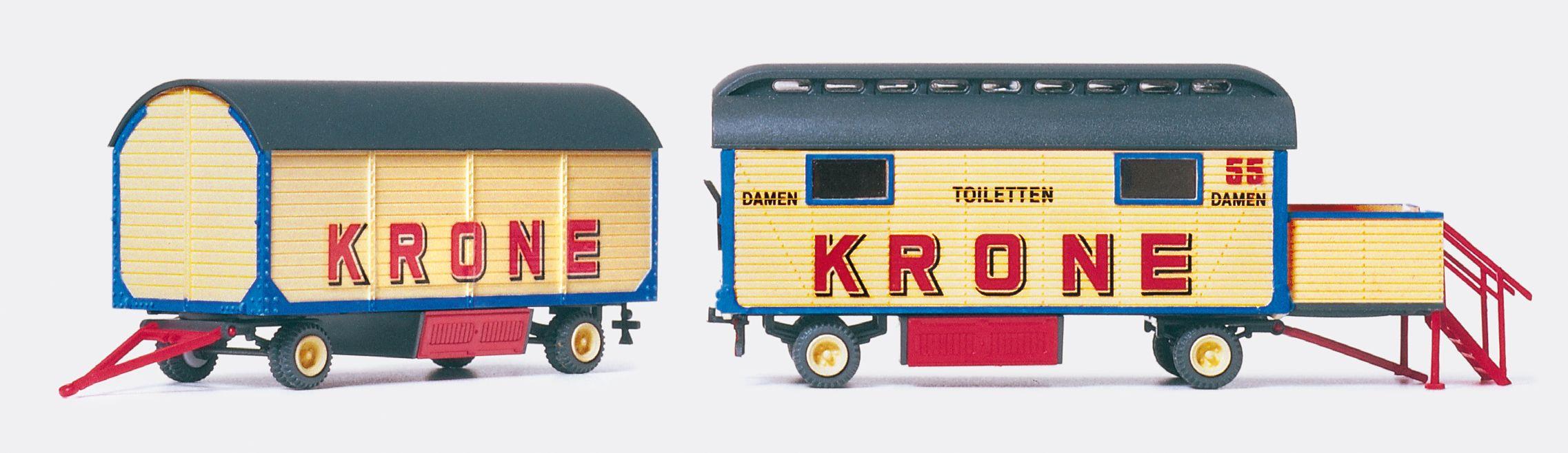 1:87 Zirkus Krone Toiletten- Wagen Damen, Bausatz- Preiser 21052  | günstig bestellen bei Modelleisenbahn Center  MCS Vertriebs GmbH