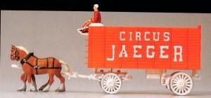 1:87 Zirkus Packwagen mit 2 Pferden, FM - Preiser 22155  | günstig bestellen bei Modelleisenbahn Center  MCS Vertriebs GmbH