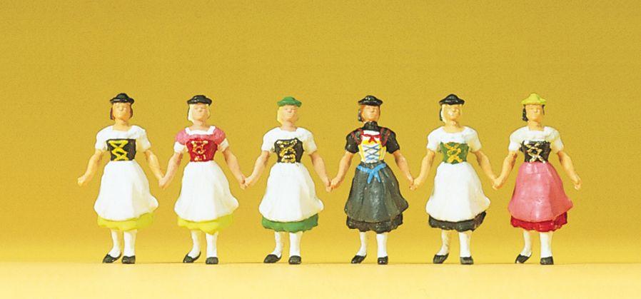 1:87 Bayrische Trachtengruppe, Frauen- Preiser 24607    günstig bestellen bei Modelleisenbahn Center  MCS Vertriebs GmbH