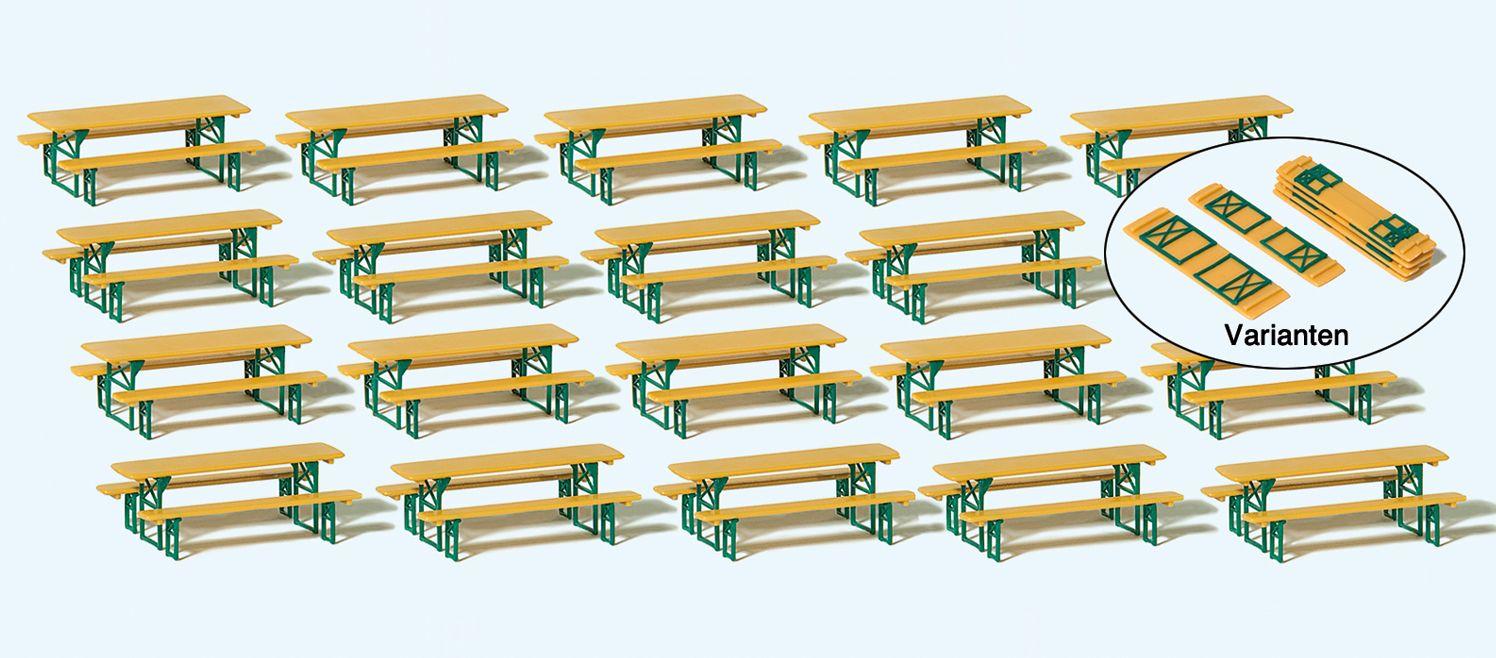 1:87 20 Biertischgarnituren  | günstig bestellen bei Modelleisenbahn Center  MCS Vertriebs GmbH