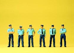 1:87 Polizisten in Sommer- Uniform stehend, Frankreich- Preiser 25108  | günstig bestellen bei Modelleisenbahn Center  MCS Vertriebs GmbH