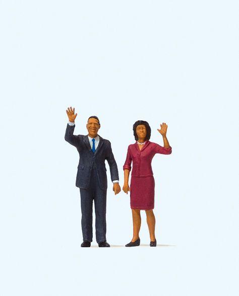 1:87 USA Präsident Obama und die First Lady - Preiser 28144  | günstig bestellen bei Modelleisenbahn Center  MCS Vertriebs GmbH