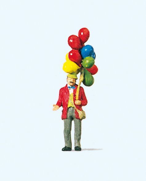 1:87 Ballonverkäufer - Preiser 29000  | günstig bestellen bei Modelleisenbahn Center  MCS Vertriebs GmbH