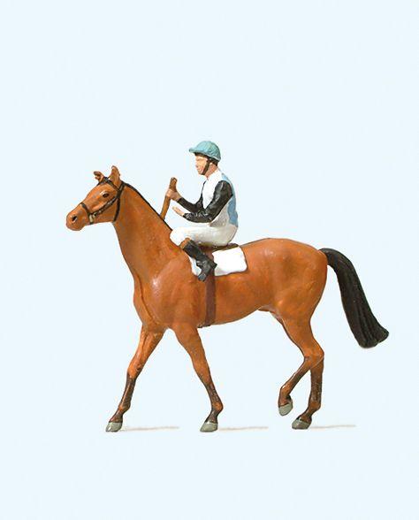 1:87 Jockey auf Pferd - Preiser 29080  | günstig bestellen bei Modelleisenbahn Center  MCS Vertriebs GmbH