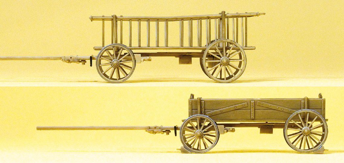1:87 Leiterwagen und Kastenwagen - Preiser 30413 Fertigmodell | günstig bestellen bei Modelleisenbahn Center  MCS Vertriebs GmbH