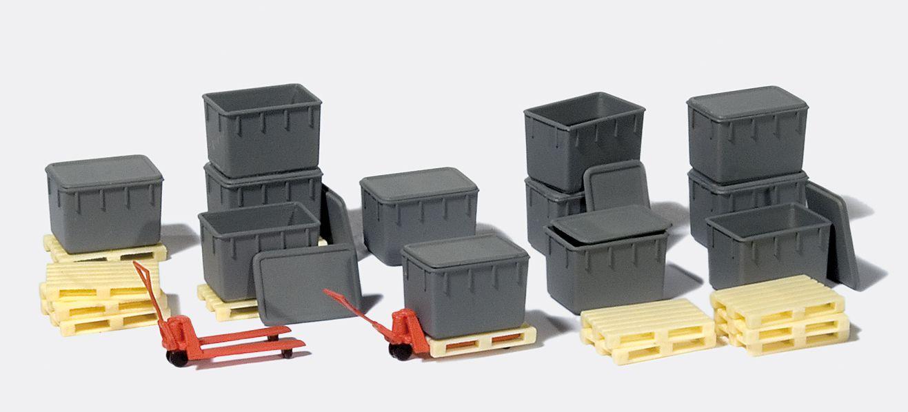 1:87 12 Kunststoffbehälter - Preiser 31025  | günstig bestellen bei Modelleisenbahn Center  MCS Vertriebs GmbH
