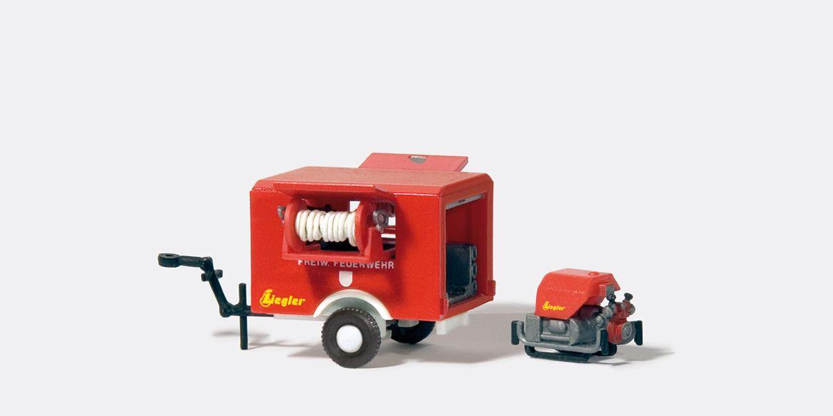 1:87 Feuerwehr ZIEGLER Tragkraftspritzenanhänger, Bausatz- Preiser 31112  | günstig bestellen bei Modelleisenbahn Center  MCS Vertriebs GmbH