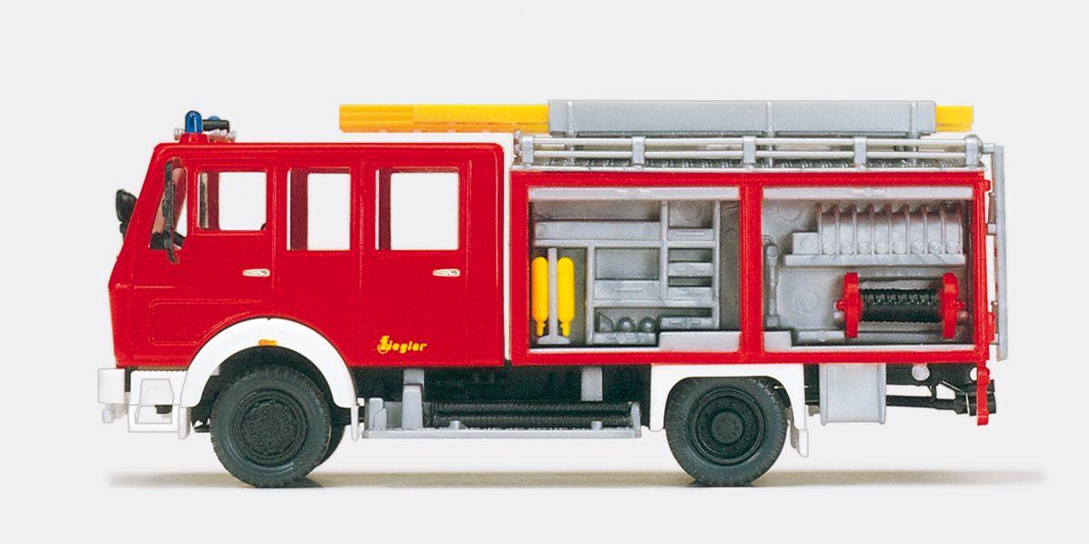 1:87 Feuerwehr Löschgruppenfahrzeug LF16 - MB 1019 AF-36 Aufbau ZIEGLER mit Inneneinrichtung, Bausatz - Preiser 31128    günstig bestellen bei Modelleisenbahn Center  MCS Vertriebs GmbH