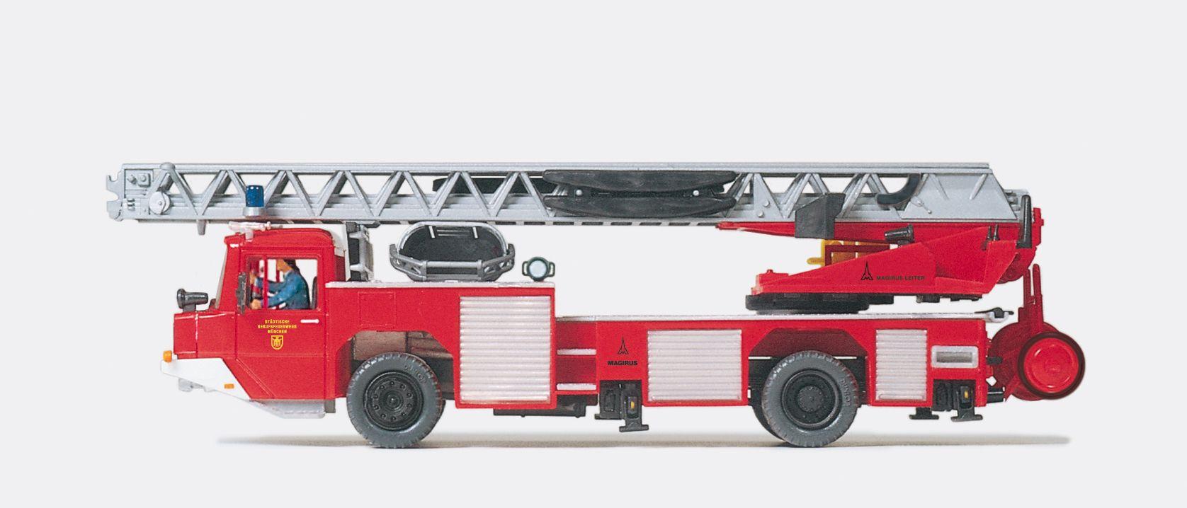 1:87 Feuerwehr Magirus Drehleiter DLK 23 DLK 23-12 voll beweglich, Bausatz - Preiser 31134    günstig bestellen bei Modelleisenbahn Center  MCS Vertriebs GmbH