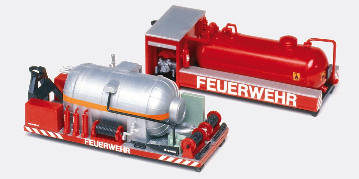 1:87 Feuerwehr Wechselaufbau CO2- +Saug- Druck-Behälter zu Bs.# 31116 Abrollkipper Meiler, Bausatz - Preiser 31152  | günstig bestellen bei Modelleisenbahn Center  MCS Vertriebs GmbH