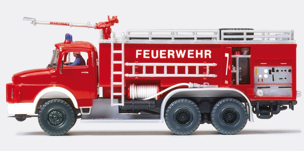 1:87 Feuerwehr Flugplatz-Tanklöschfahreug FTLF MB LAK 2624,Aufbau METZ Flughafen Berlin-Gatow,Bausatz - Preiser 31163    günstig bestellen bei Modelleisenbahn Center  MCS Vertriebs GmbH